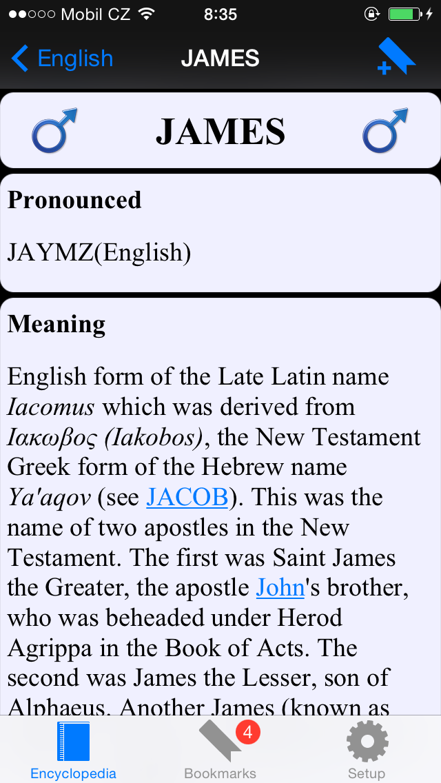 Name Encyclopedia - collection of names meaning and historyのおすすめ画像1