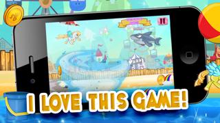 Little Magic Unicorn Dash: My Pretty Pony Princess vs Shark