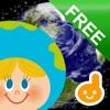 タッチ!うごく ちずこっき FREE -子供向け地球儀・地図・国旗アプリ-