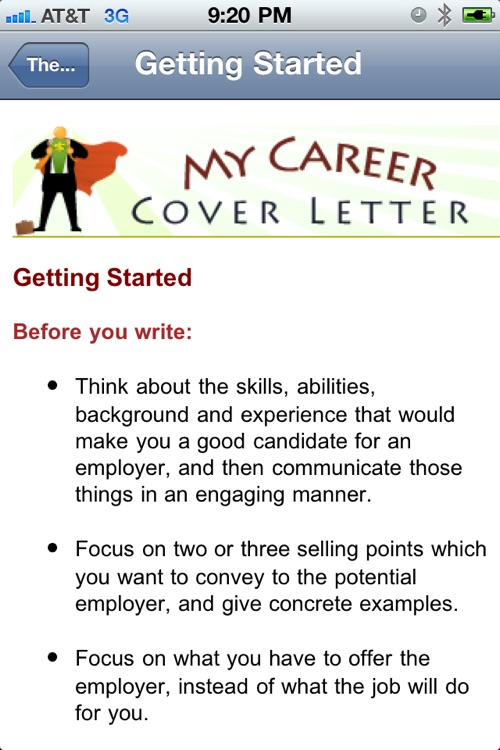 My Cover Letter screenshot-2