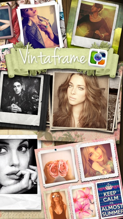 Vintaframe Pro - photo collage & scrapbooking frames for Instagram and twitter screenshot-0