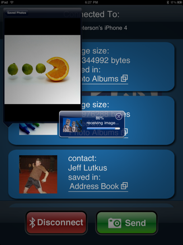 Bluetooth Photo Share screenshot