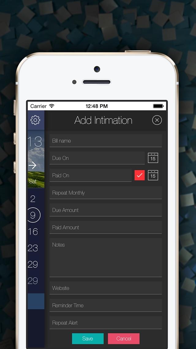 Bill Intimation - Bill Reminder, Tracker & Manager Screenshot