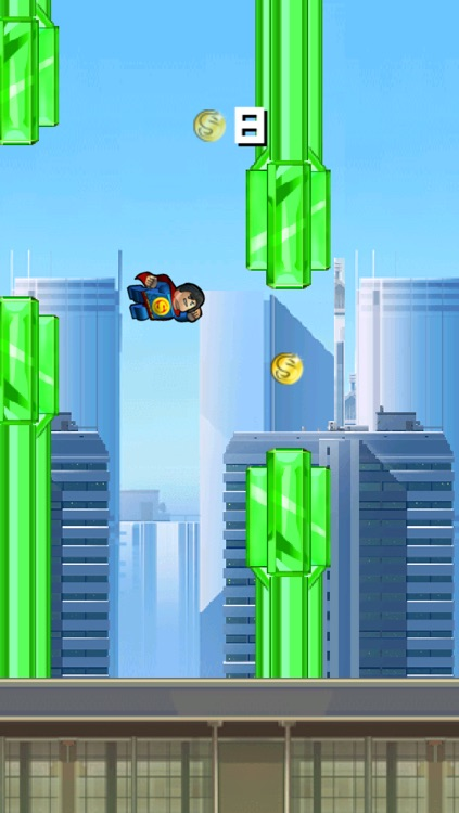 Super Flappy Justice League- Play Free Comic Hero Edition