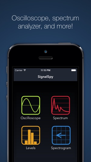 ‎SignalSpy - Audio Oscilloscope, Frequency Spectrum Analyzer, and more