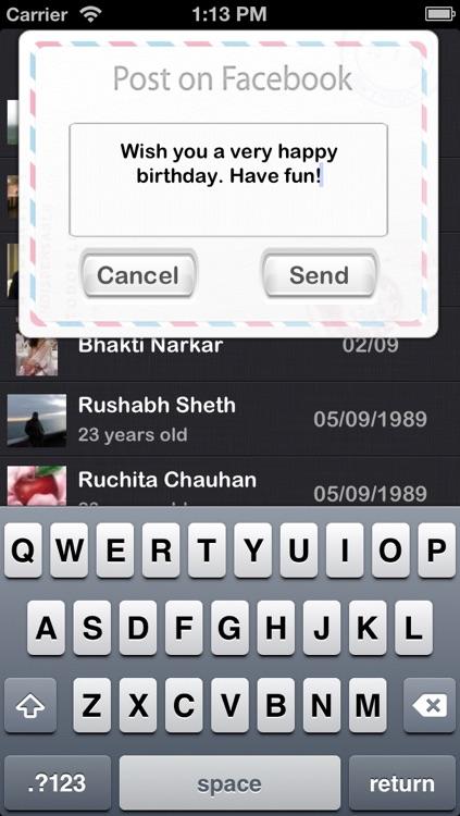 Birthdays - A Beautiful Birthday Reminder App screenshot-3