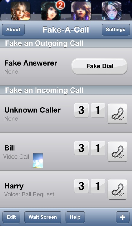 Fake-A-Call Free ™ screenshot-3