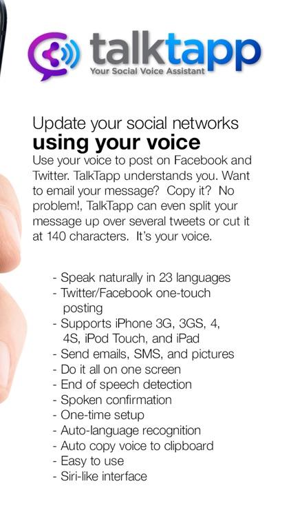 TalkTapp ~ Voice Text Dictation screenshot-3