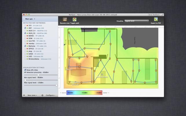 NetSpot: WiFi survey & scanner
