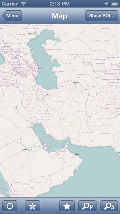 Iran Offline Map - PLACE STARS