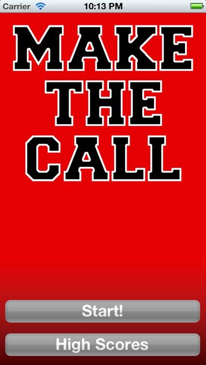 Make the Call - Football