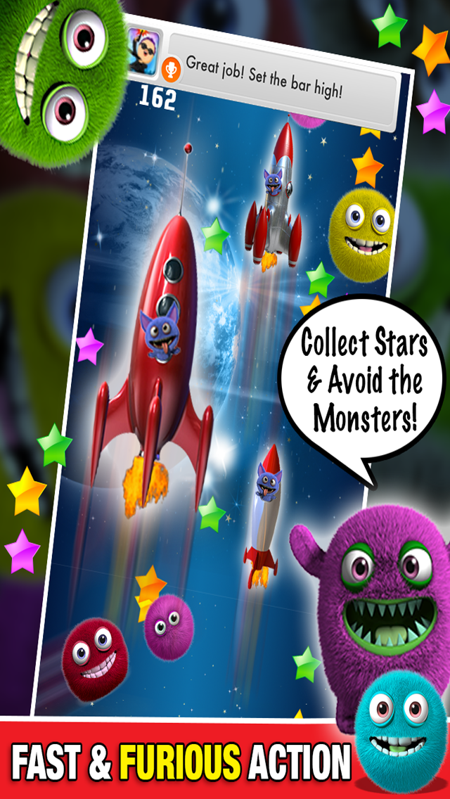 Monster in Space Multiplayer : Chase Race Alien Game PRO - By Dead Cool Appsのおすすめ画像2