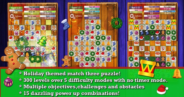Holiday Drops - Match three puzzle game