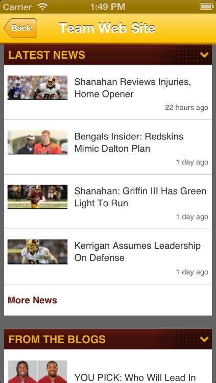 Redskins Fan Static screenshot-3