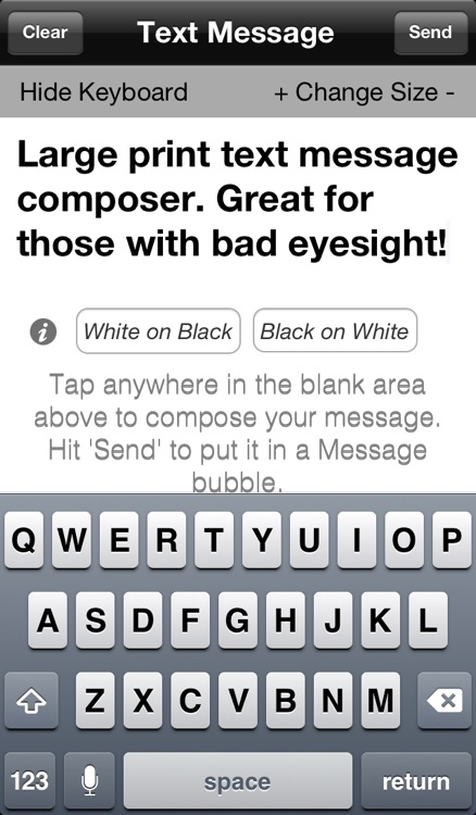 Large Print Message Composer screenshot-1