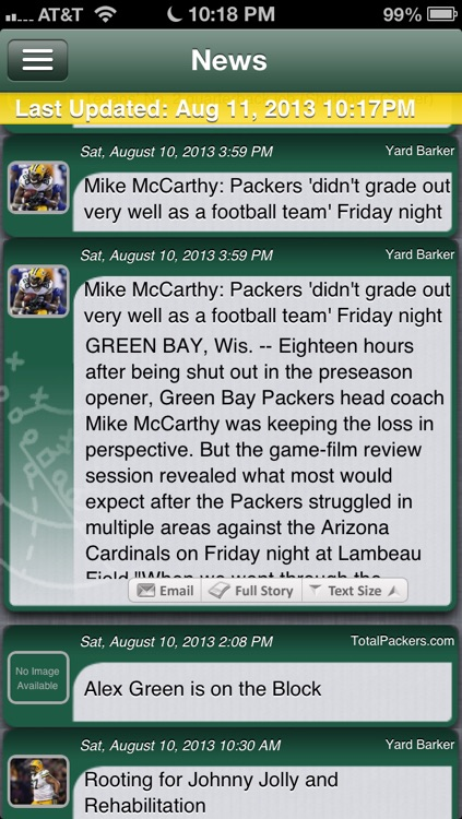 Football Live - Green Bay Edition
