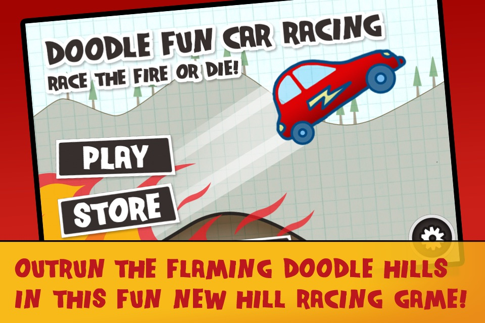Doodle Fun Car Racing Free Game – Race The Fire Or Die!