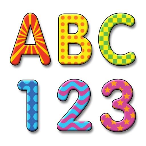 Lek med bokstaver og tall (Norsk alfabet)