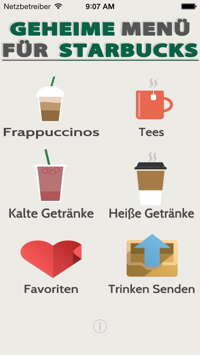 Geheime Menü für StarbucksScreenshot von 1