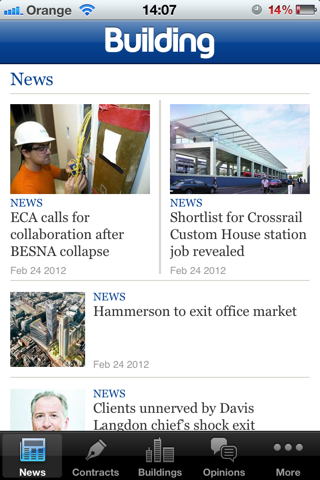 Building News for iPhone screenshot one