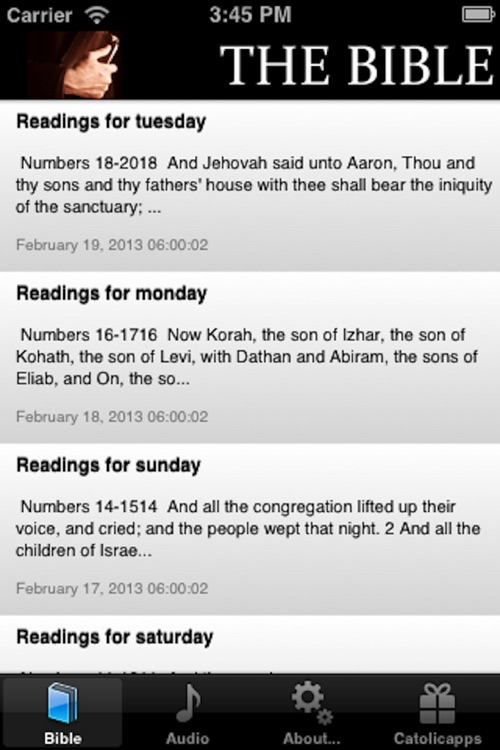 The Bible in one year - Catolicapp.org
