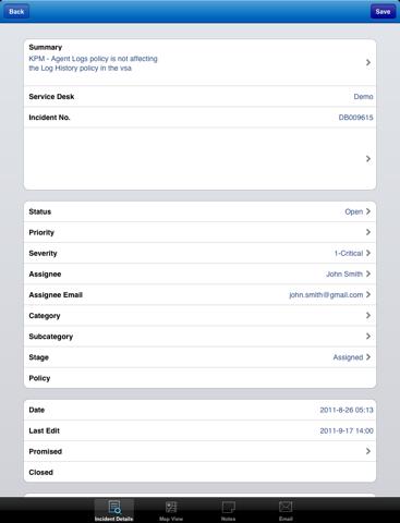 Screenshot of Kaseya Help Desk