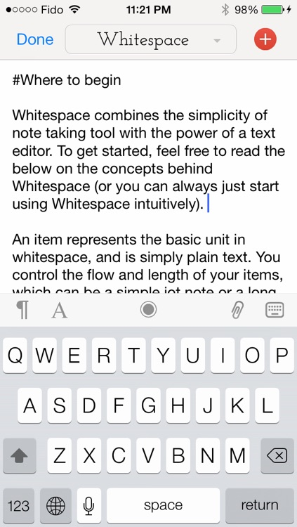 Whitespace - A Writer, Editor and Organizer For Your Notes and Ideas