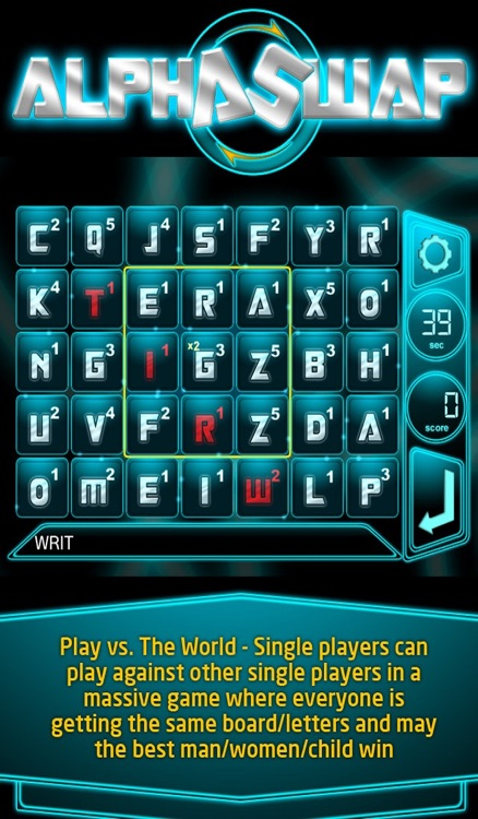 AlphaSwap - The MMO Word Game