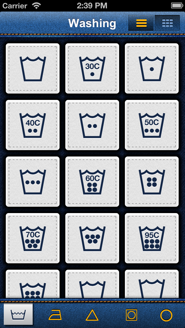 Laundry Symbols screenshot one