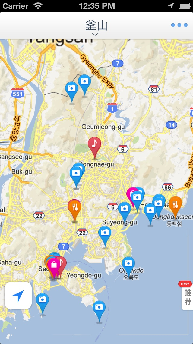 Subway Map Of Busan.Busan Offline Map Offline Map Subway Map Gps Tourist Attractions