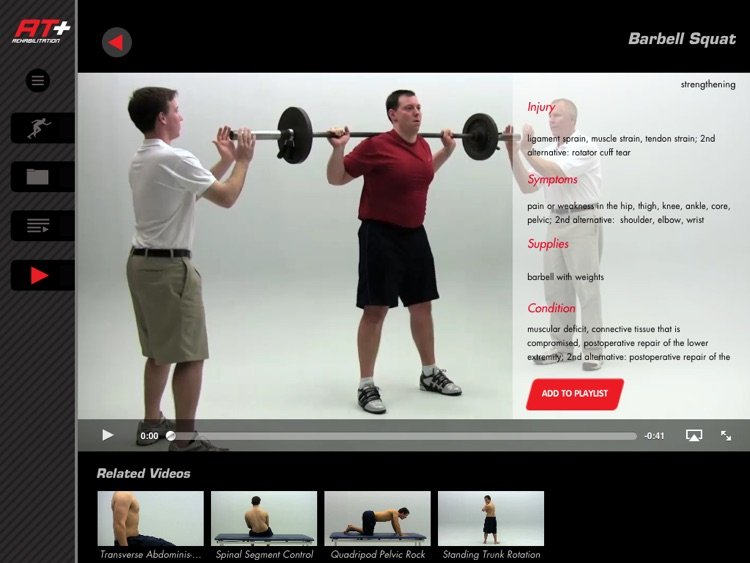 Athletic Trainer Plus: Rehab –Videos for Injury Rehab