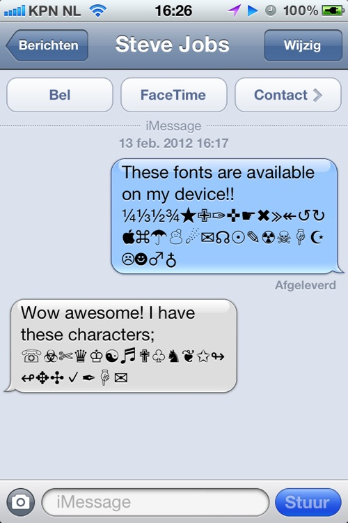 Characters 2012 - extra symbols, emoji and ascii chars