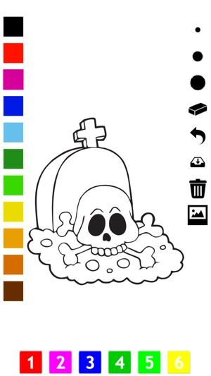 Halloween-Malbuch für Kleinkinder: Hexe, Gespenst, Geist, Kürbis ...