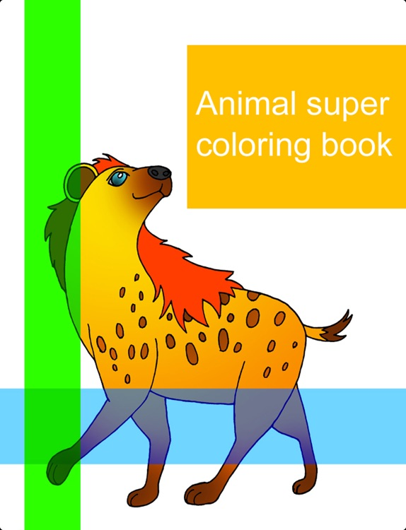 Animal super coloring book Lite
