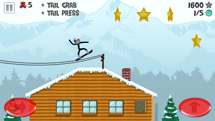 Stickman Snowboarder screenshot-3