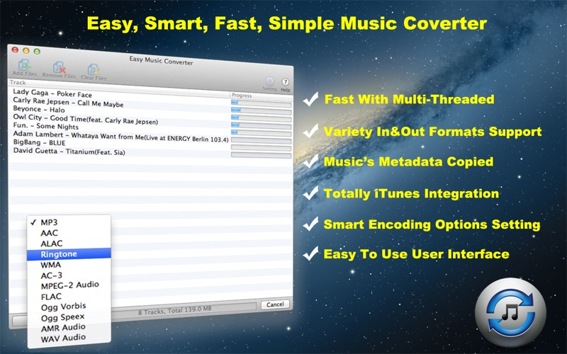 Easy Music Converter Screenshot