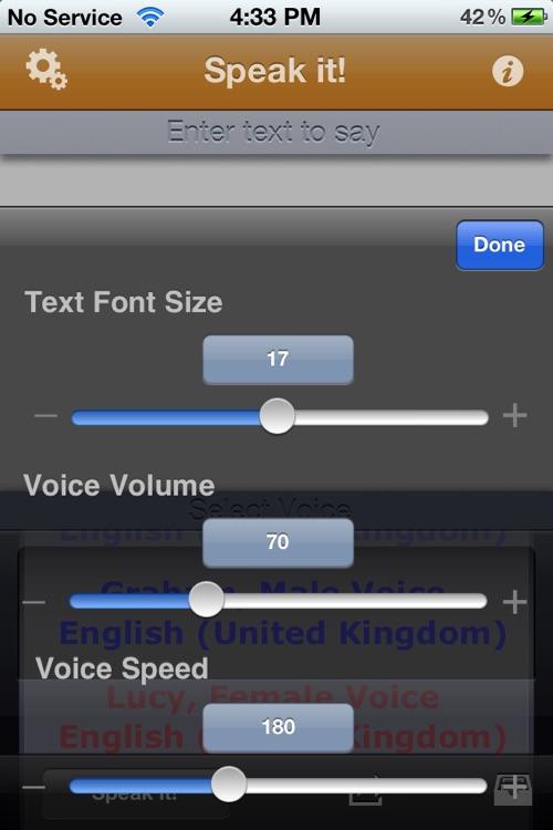 Speak it! Text to Speech screenshot-3