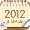 2012 US Calendar : Simple
