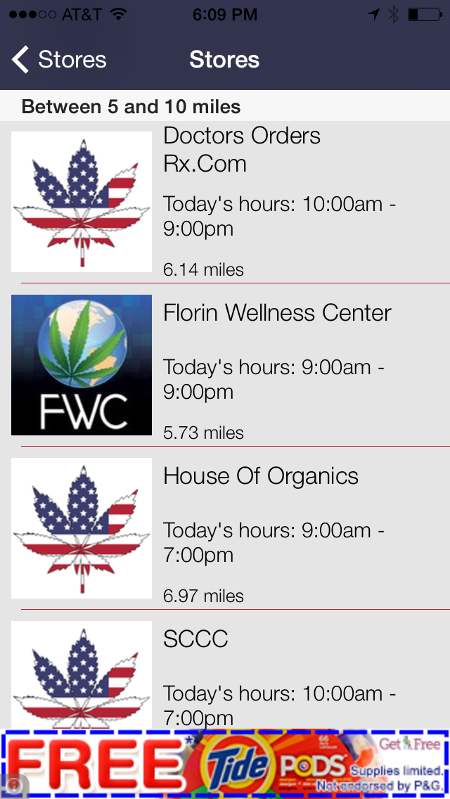 Bud Butler - Your Guide to Legal Medical Marijuana Dispensaries and Stores Screenshot