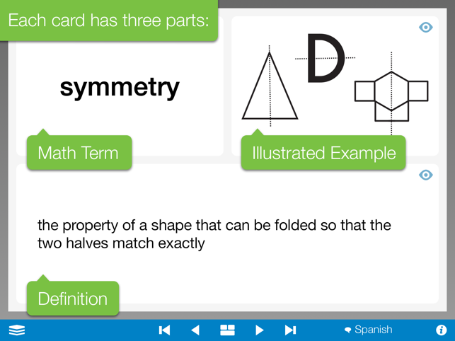 ‎Math Vocabulary Cards, by the Math Learning Center Screenshot