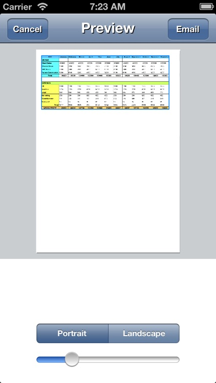 Spreadsheet touch Sync: Simple spreadsheets - compatible with Dropbox screenshot-3