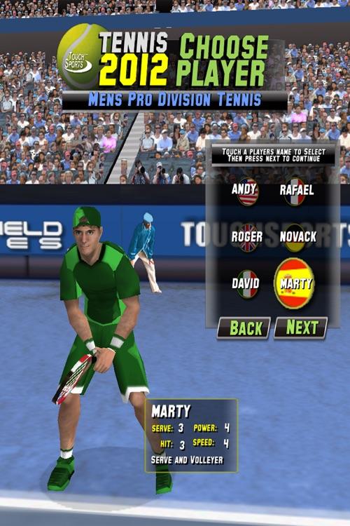TouchSports Tennis 2012 screenshot-3