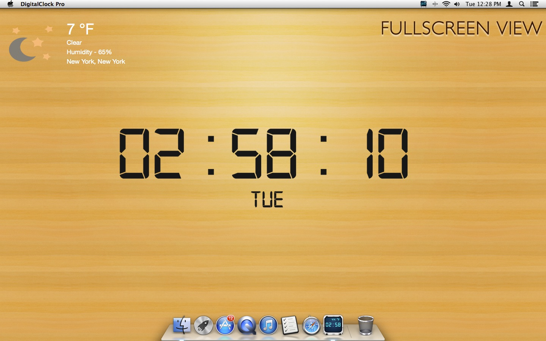 DigitalClock Pro on the MacAppStore
