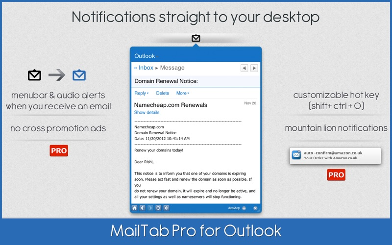 MailTab Pro for Outlook Screenshot
