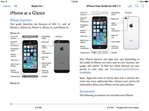 iphone at a glance manual