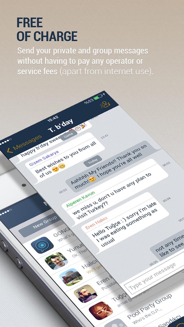 Gong Messenger screenshot three