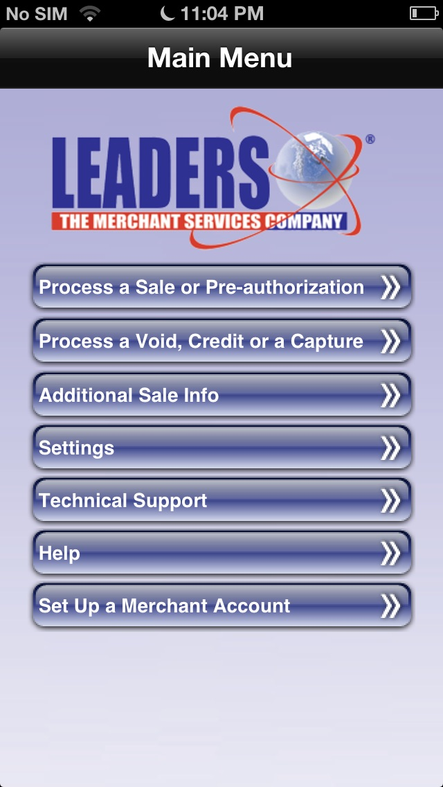 Credit Card Processing Merchant Account Screenshot