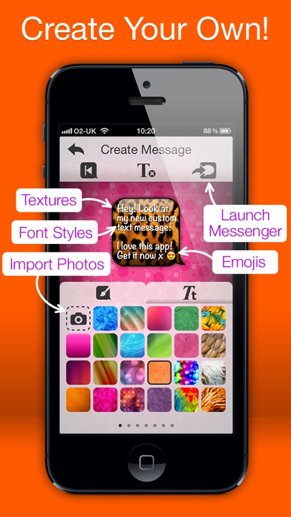 Message Styler - Color messages for iMessage and MMS + Emoji screenshot-3