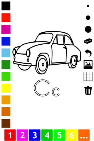 ABC Coloring Book for Toddlers: Learn to color and write the English letters of the alphabet screenshot 3