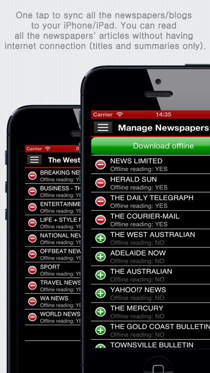 Australian Newspapers+ (Aussie News+ by sunflowerapps) screenshot-3